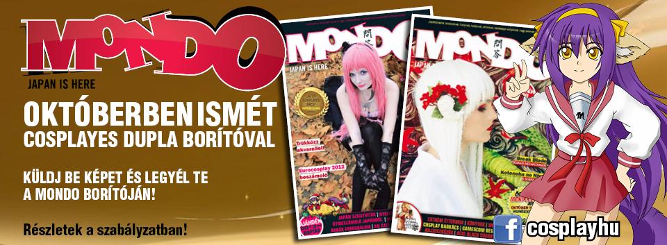 Októberi Mondo Magazin – Dupla cosplayes borító