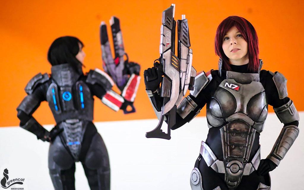 Photoshoot: Shepard duo (Mass Effect – Yuriko és Evil-Siren)