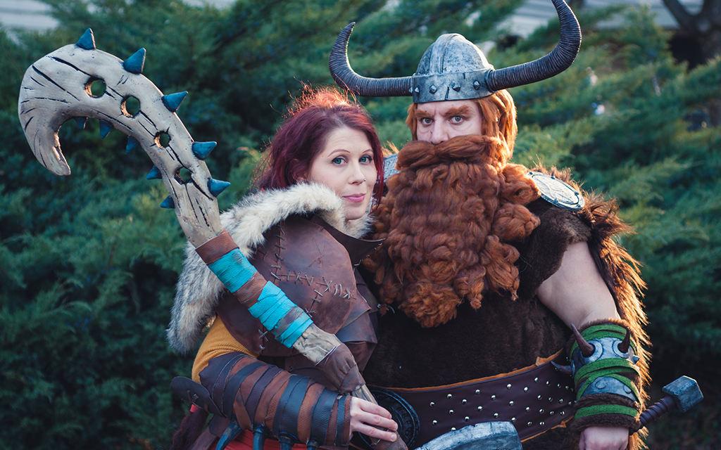 Photoshoot: Valka és Stoick (Így neveld a sárkányodat 2 – Dudus és Sophie)