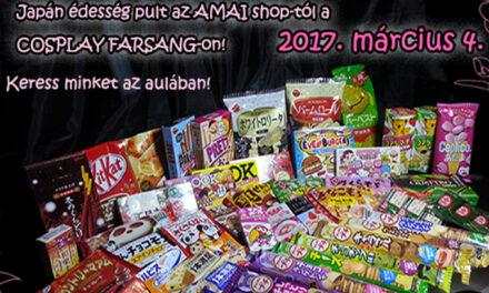 Japán finomságok a Cosplay Farsangon, az Amai Shop-ban