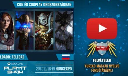 PLAYIT SHOW BUDAPEST 2017-NOV – Cosplay Village (1. nap) – 07 – Cosplay Oroszországban [Felidae orosz cosplayes előadása]