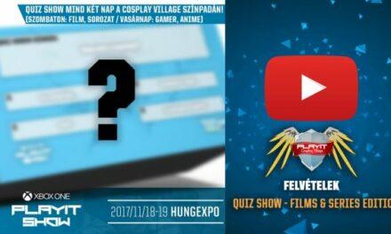 PLAYIT SHOW BUDAPEST 2017-NOV – Cosplay Village (1. nap) – 09 – Quiz Show – Films & Series Edition
