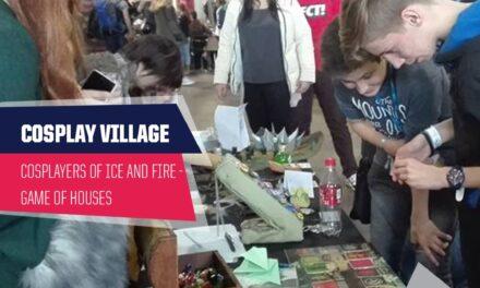 PlayIT Show Budapest – Cosplay Village: Vár a Game of Houses minijáték a Cosplayers of Ice and Fire pultjánál!