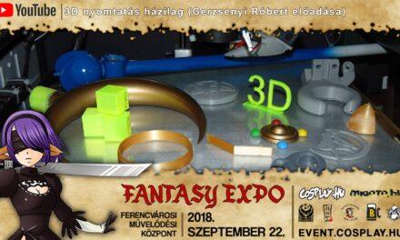 FANTASY EXPO 2018 felvételek – 3D nyomtatás házilag (Gerzsenyi Róbert előadása)