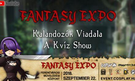 FANTASY EXPO 2018 felvételek – Kalandozók Viadala (Kvíz Show)