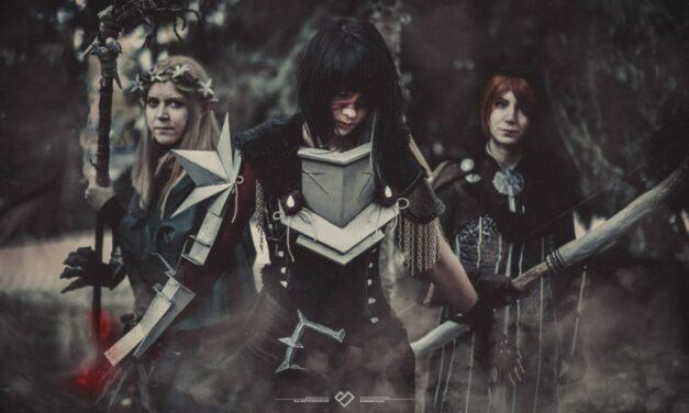 Photoshoot: Dalish Keeper, Hawke és Leliana (Dragon Age – Naeviss' Armoury, Anna B, Hugispider)