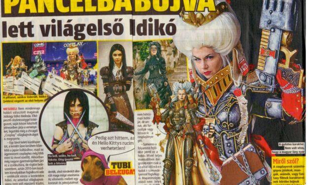 Cosplayes cikkek a hazai sajtóban