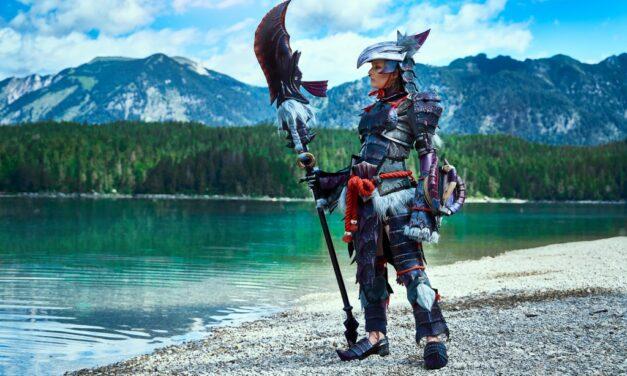 Photoshoot: Huntress, Yian Garuga armor (Monster Hunter World – Lulu)