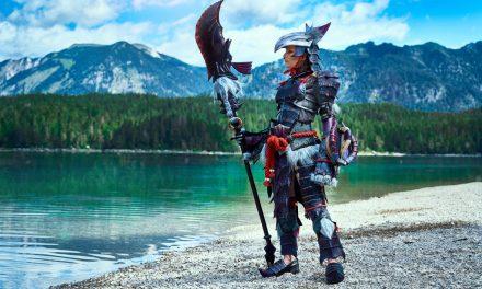 Photoshoot: Huntress, Yian Garuga armor (Monster Hunter World - Lulu)