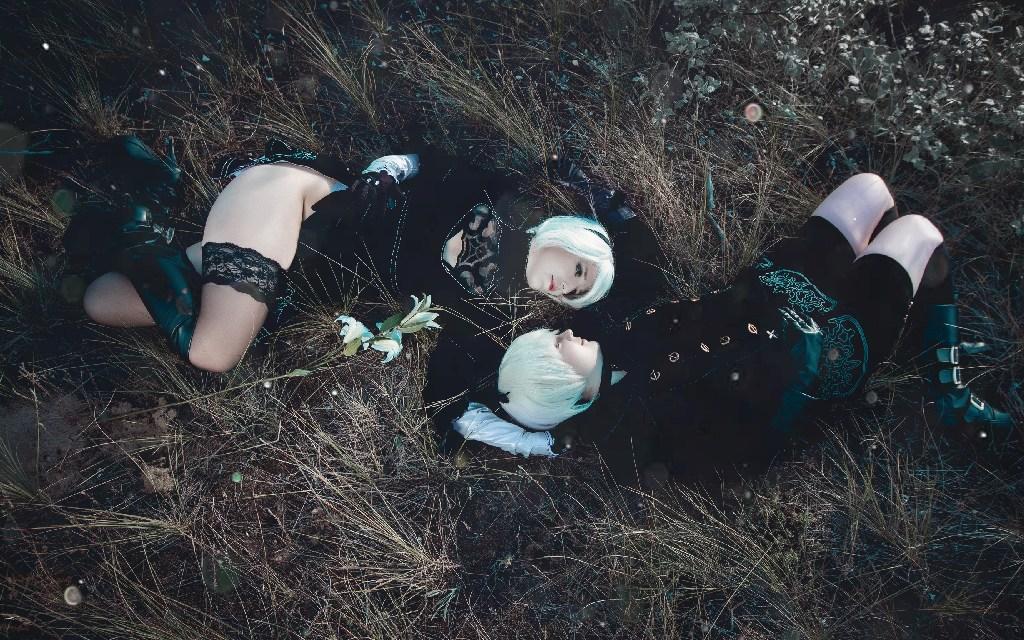 Photoshoot: 2B & 9S (NieR Automata – Ljudmila Cosplay & Meriel)