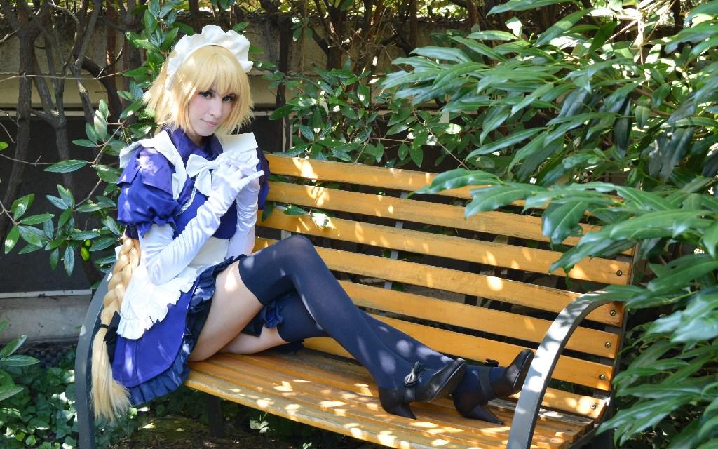 Photoshoot: Jeanne D'Arc maid verzió (Fate Grand Order – Ayume Kiraima)