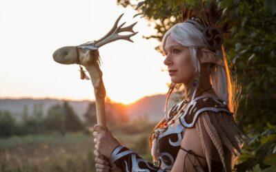 Photoshoot: Elf druid (Original, World of Warcraft – Purplepastelchalk)